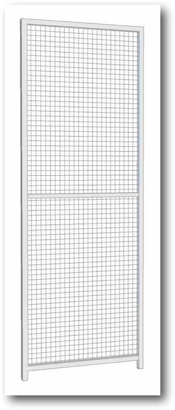 Narrow Panel. 0.65m wide x 1.8m high (approx. 2ft wide x 6ft high). We dont sell many of these but they can be useful in certain circumstances depending on your site. For example if you wanted to make a 6ft side you could attach one to our standard 4ft panel. Sturdy construction using 25x25mm box section framing covered with 50x50x3mm weldmesh. Hot dip galvanised for lifetime rust protection. Bottom of panels are raised off the ground to stop bacterial growth and to ease cleaning.  Can be easily erected with no special tools or skills required. Bolts included.
