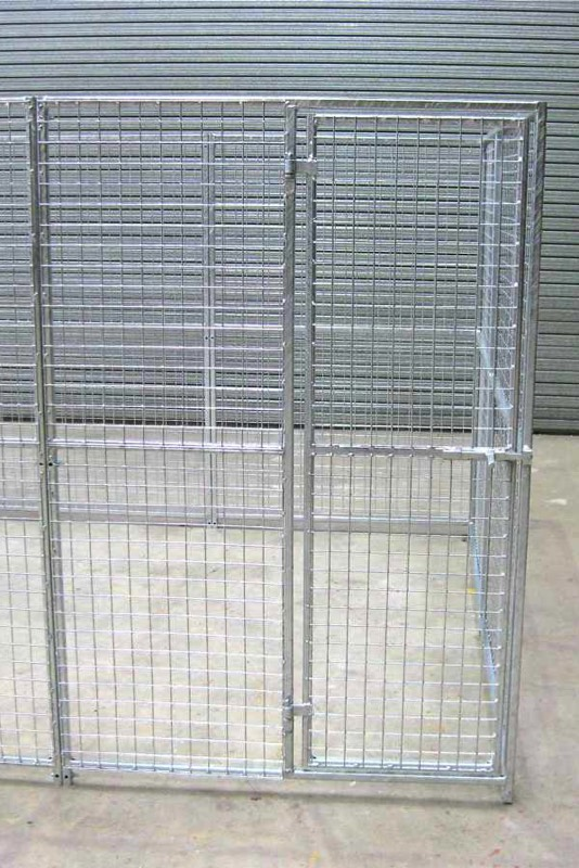 Gate Panel. 1.25m wide x 1.8m high (approx. 4ft wide x 6ft high). Sturdy construction using 25x25mm box section framing covered with 50x50x3mm weldmesh. Hot dip galvanised for lifetime rust protection. Bottom of panels are raised off the ground to stop bacterial growth and to ease cleaning.  Can be easily erected in around 30 minutes with no special tools or skills required. Bolts included.